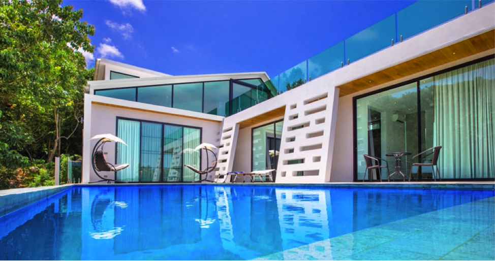 New Modern 4 Bed Private Pool Villa in Tranquil Lamai