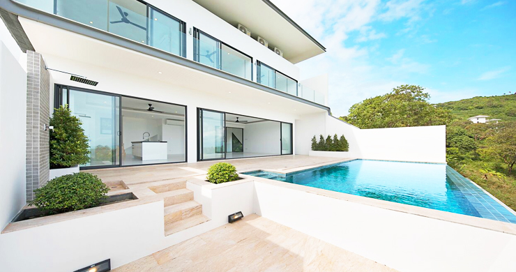 New Ocean View Luxury Pool Villas on Bophut Hillside-3