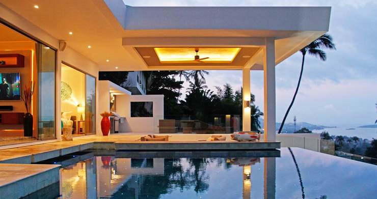 Modern Tropical Sea View Villa for Sale in Chaweng -27