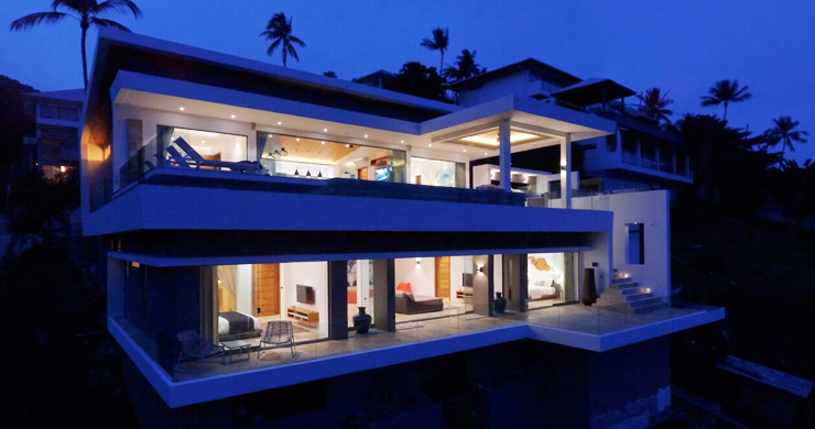 Modern Tropical Sea View Villa for Sale in Chaweng -33